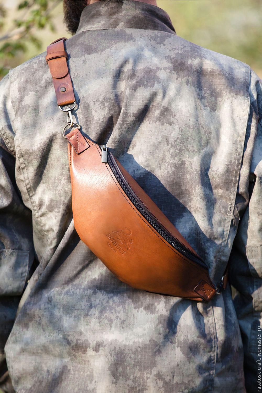 561d7809e630 Спортивные сумки ручной работы. Поясная сумка - барсетка из натуральной кожи.  Ratatosk Leather Accessories. Интернет-магазин Ярмарка Мастеров.