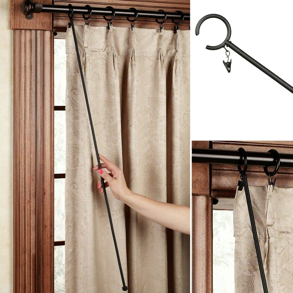 Curtain Wand Pull For The Kitchen Unique Curtains Curtains Curtain Rod Brackets