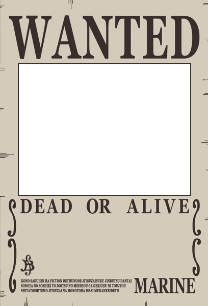 One Piece Wanted Poster Preset By A Png 408 600 Pixels Poster Template Poster Maker One Piece New World