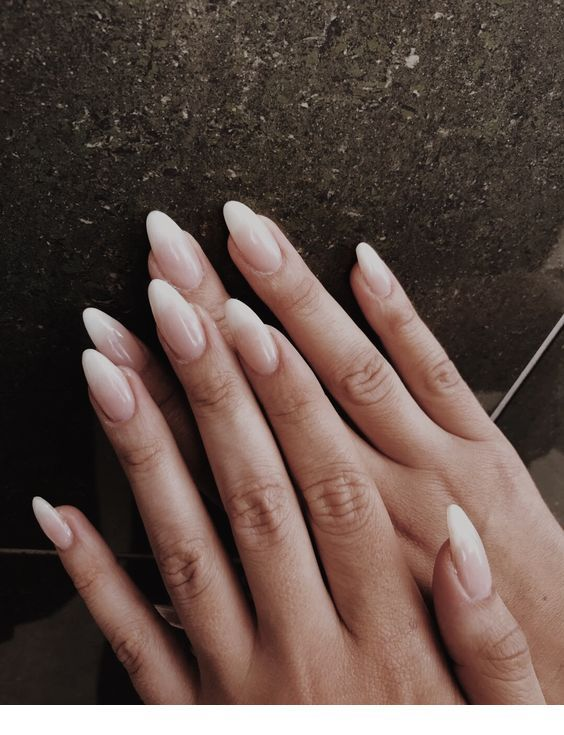 Ombre Nails With An Almond Shape Inspiring Ladies Almond Nails Designs Long Almond Nails Almond Acrylic Nails