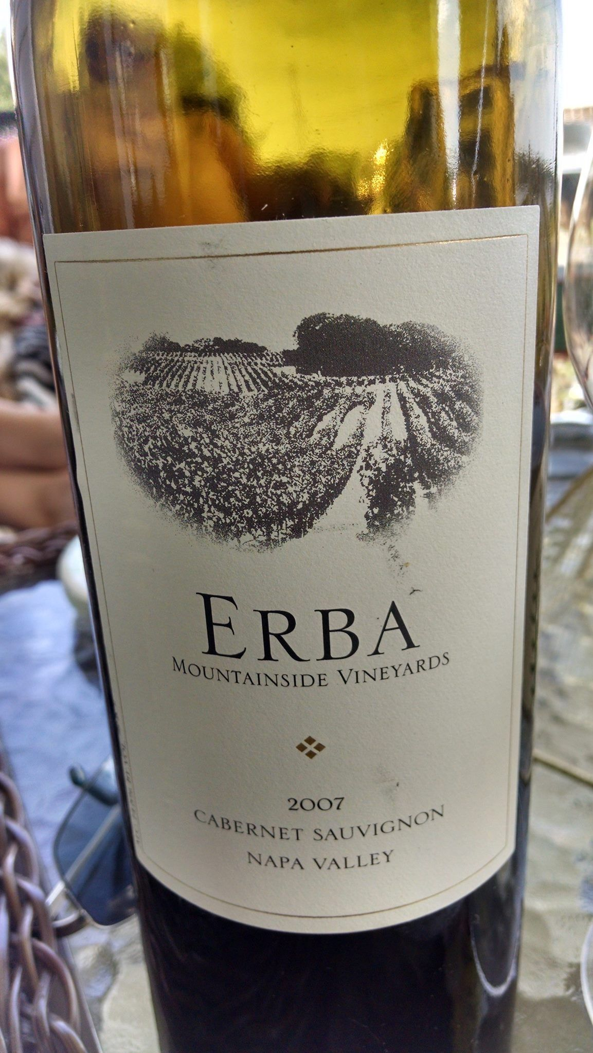 Erba 2007 Cabernet from the Atlas Peak Napa AVA. As Botique as you get you can get, and a wonderful wine!