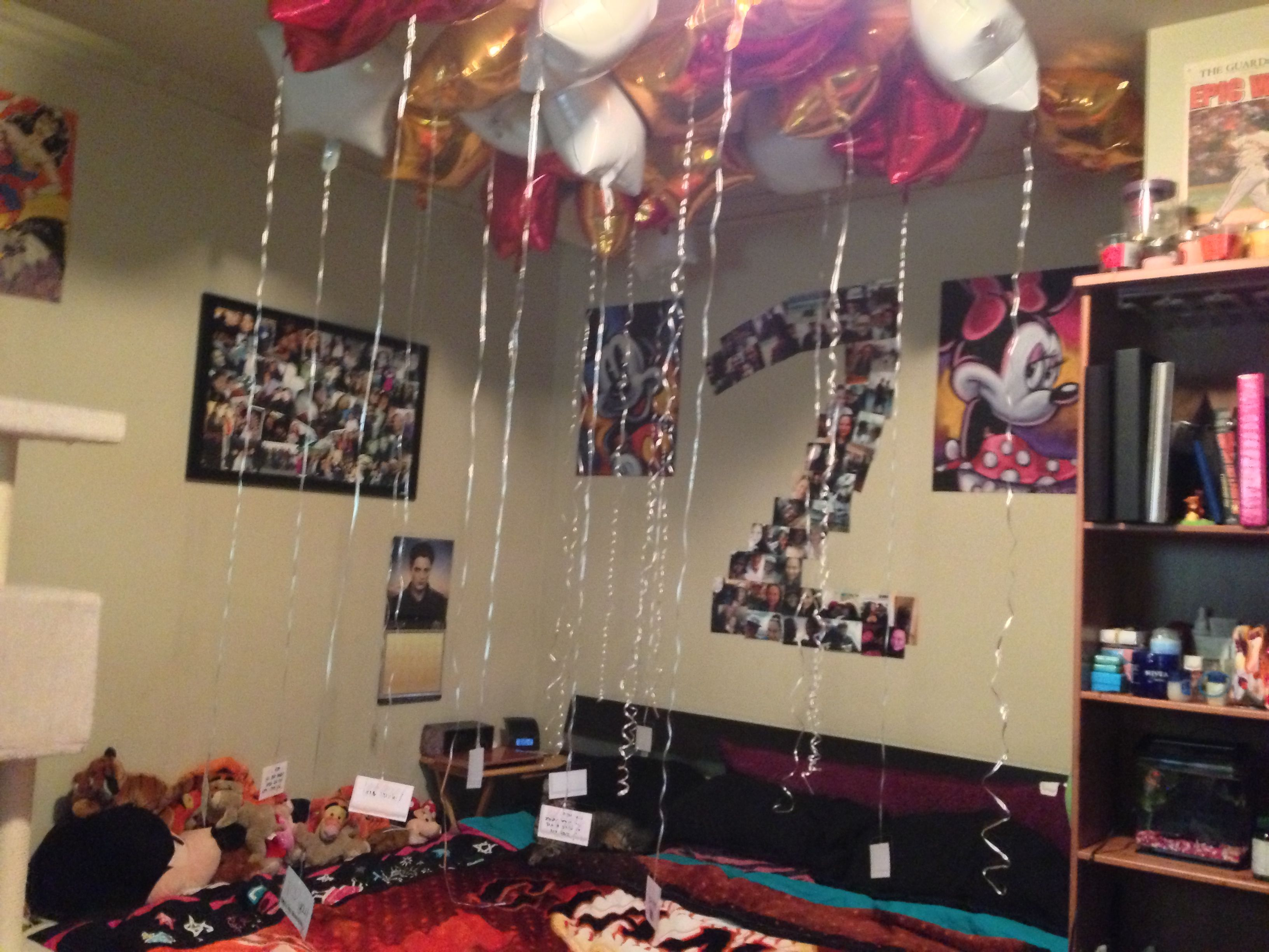 2nd year anniversary 24 balloons for the 24 months together with a
