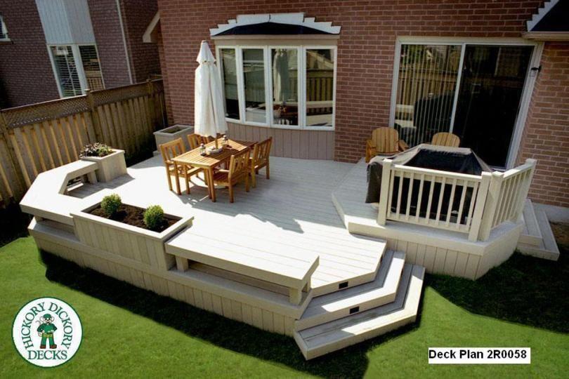 Deck Plan 2r0058 Diy Deck Plans Deck Plans Diy Diy Deck Deck Plans