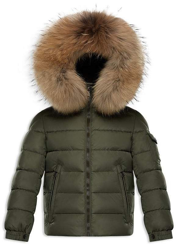 Moncler Boys' Byron Fur Trimmed Puffer Jacket Little Kid
