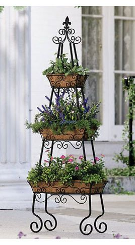 Pyramid Patio Planter - traditional - outdoor planters - Collections Etc.
