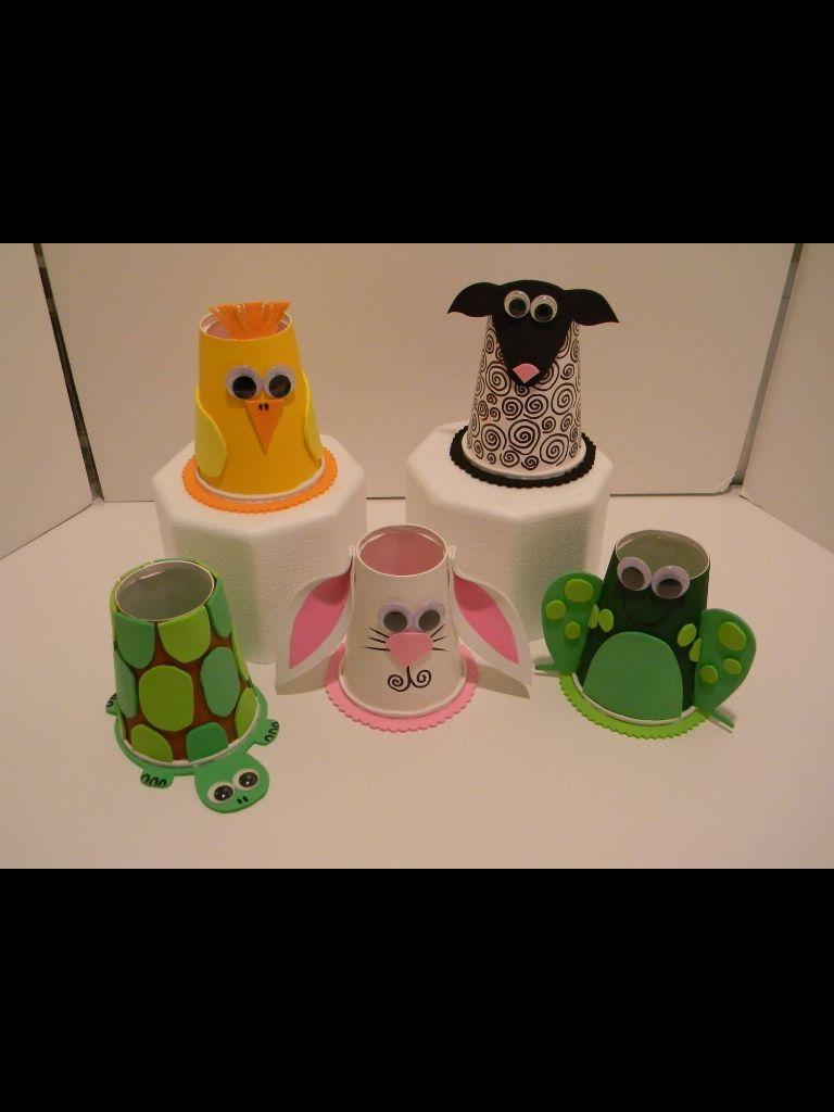 Copos Plastico Juegos Significativos Pinterest Ninos