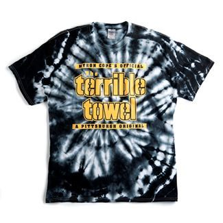 Show details for Pittsburgh Steelers Terrible Towel Black Tie Dye T-Shirt c2bca3fa0