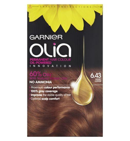 Garnier Olia Permanent Hair Colour 6 43 Honey Copper Boots