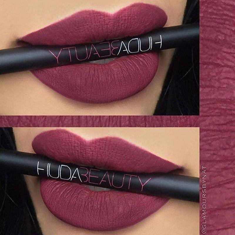 5c628040 New Huda Beauty Makeup Lips Contour Matte 9 Colors Lip Liner Long ...