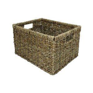 High Quality Large east2eden Deep Rectangular Seagrass Magazine Storage Basket: Amazon.co.uk: Kitchen & Home