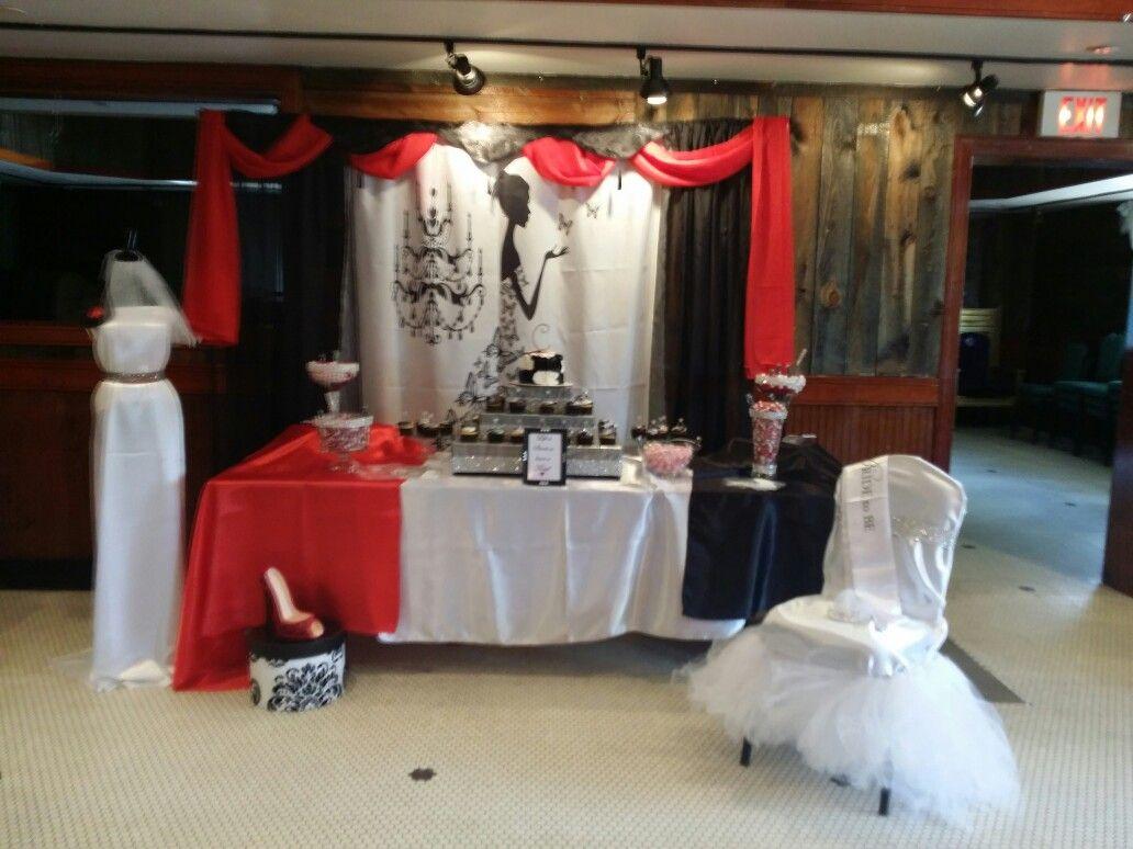 Red Black And White Bridal Shower White Bridal Shower White