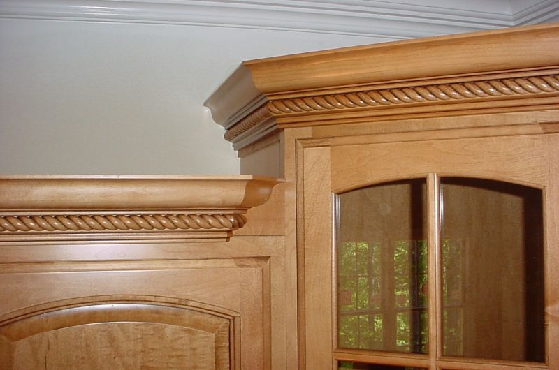 wonderful Cutting Crown Molding For Kitchen Cabinets #5: 17 Best images about Interior: Crown Molding on Pinterest | Wood trim,  Window casing and Interior columns