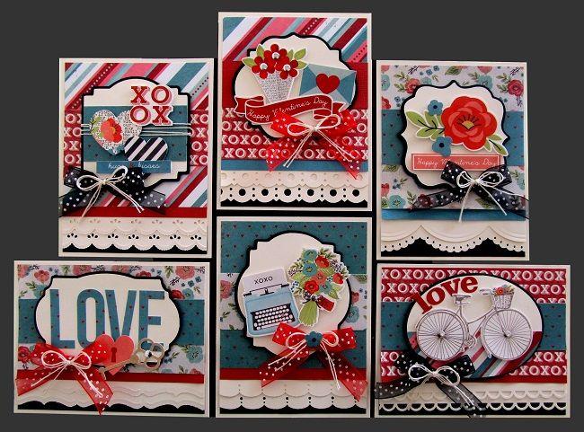 My Valentine Card Kit  Kims Card Kits  Handmade Card Making Kit