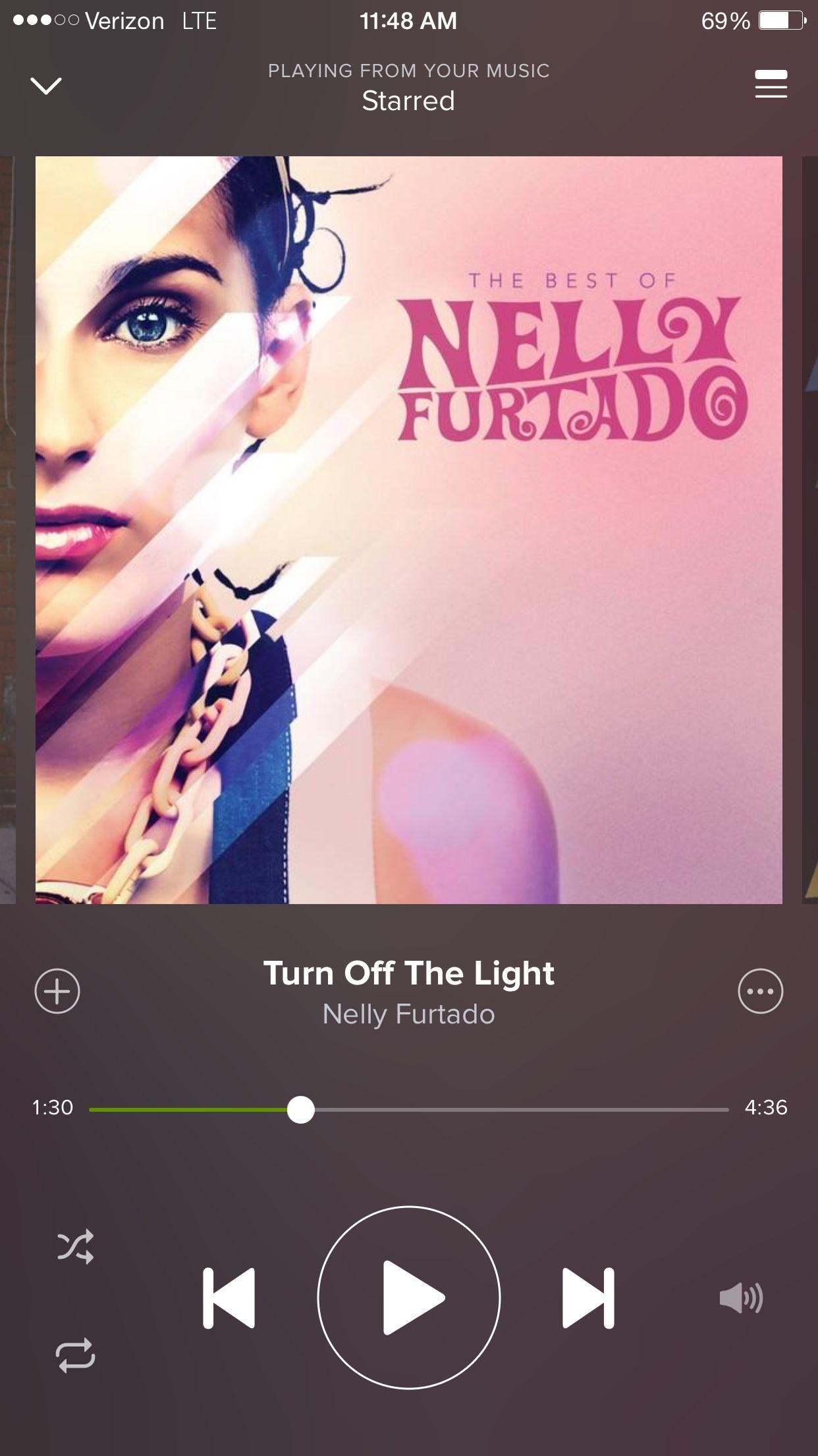 "Nelly Furtado - ""Turn off the lights"""