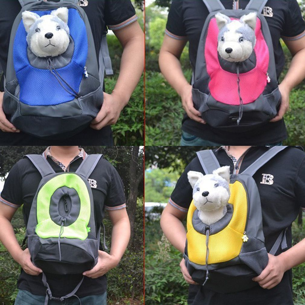 Pet Backpack Dog Bags Carrier Front Bag Puppy Portable Travel Mesh