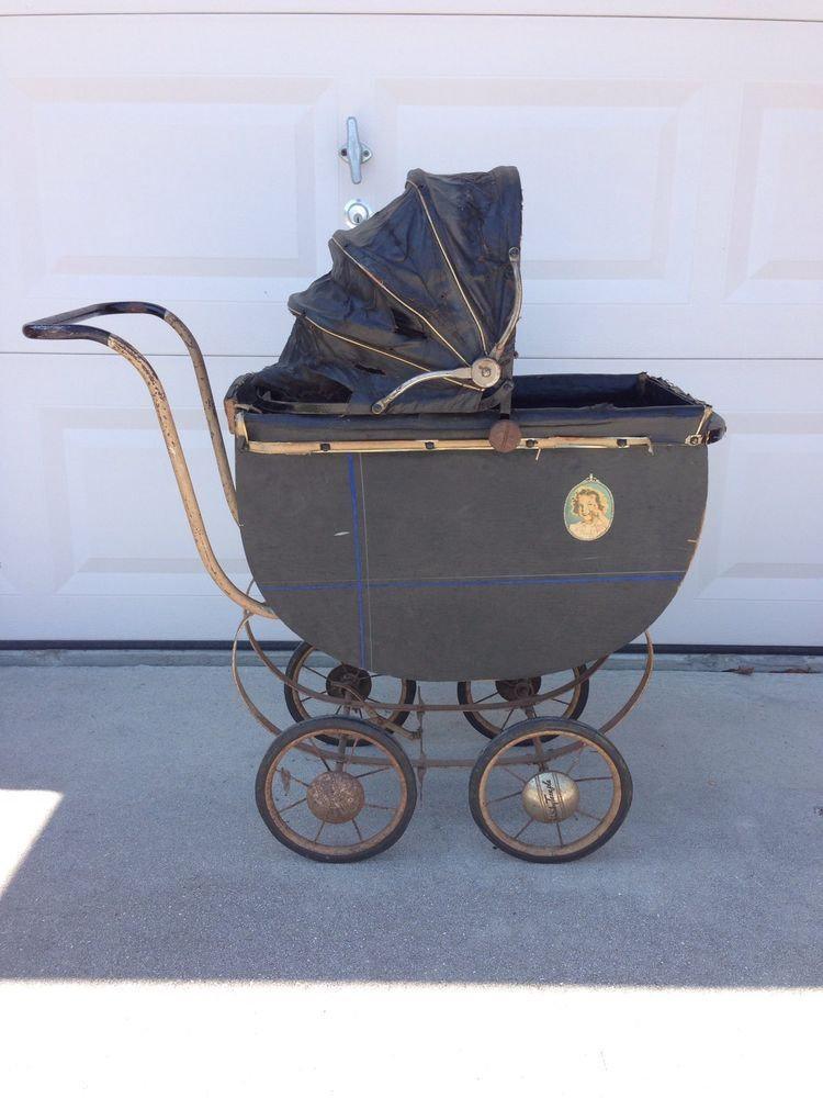Baby Carriages & Buggies 1920's Baby Doll Carriage W/ Original Tag And Mattress