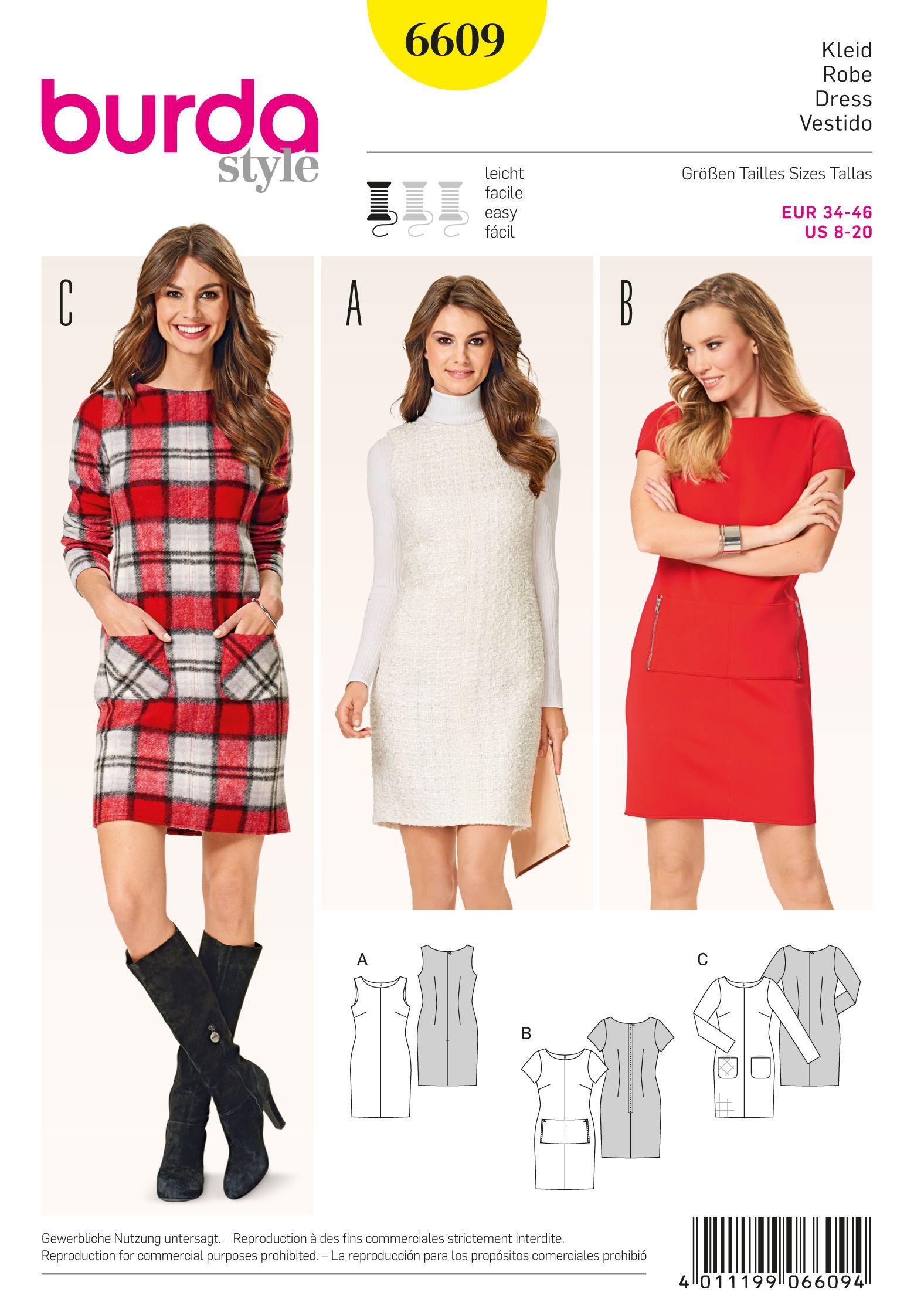 Burda 6609 | Sewing patterns | Pinterest | Costura, Vestidos y ...