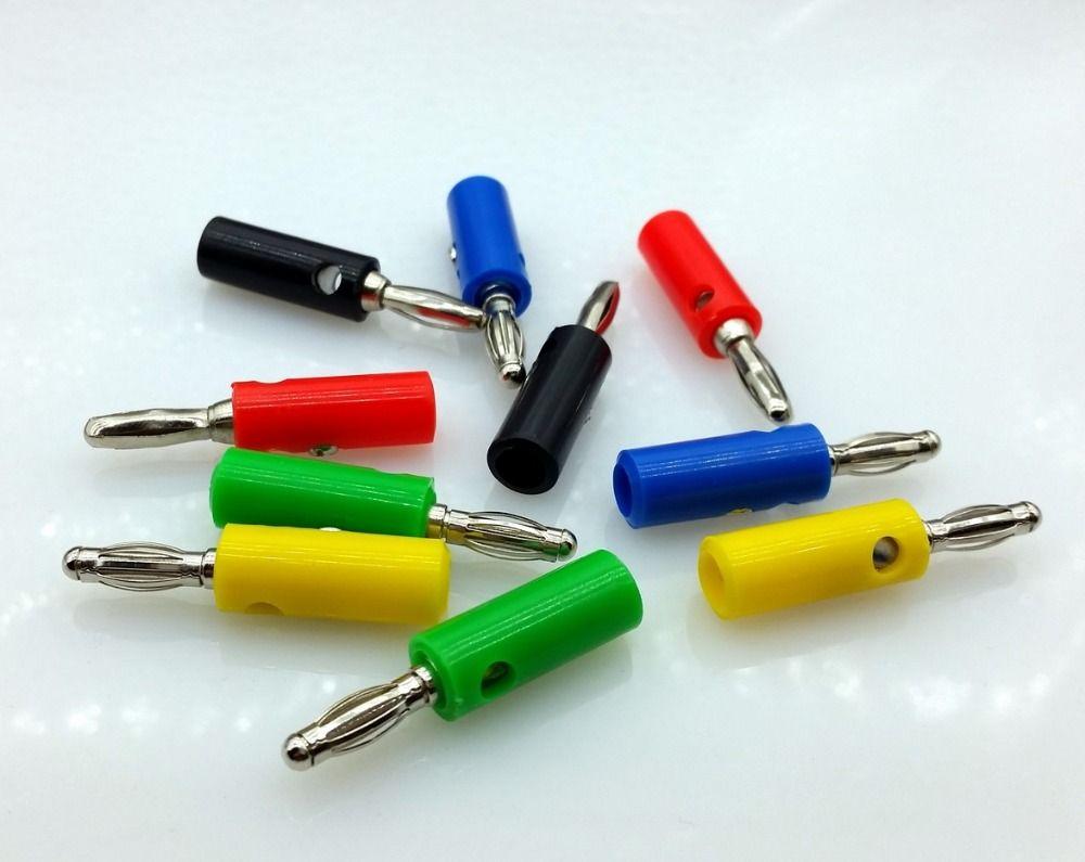 10 stücke 5 farbe Draht Audio Lautsprecherkabel Bananenstecker 4mm ...