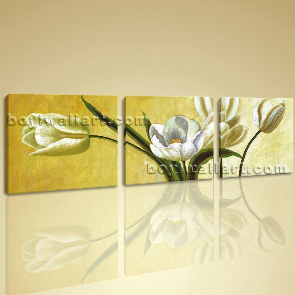 Large Wall Art Set HD Picture Print Contemporary Abstract Floral ...