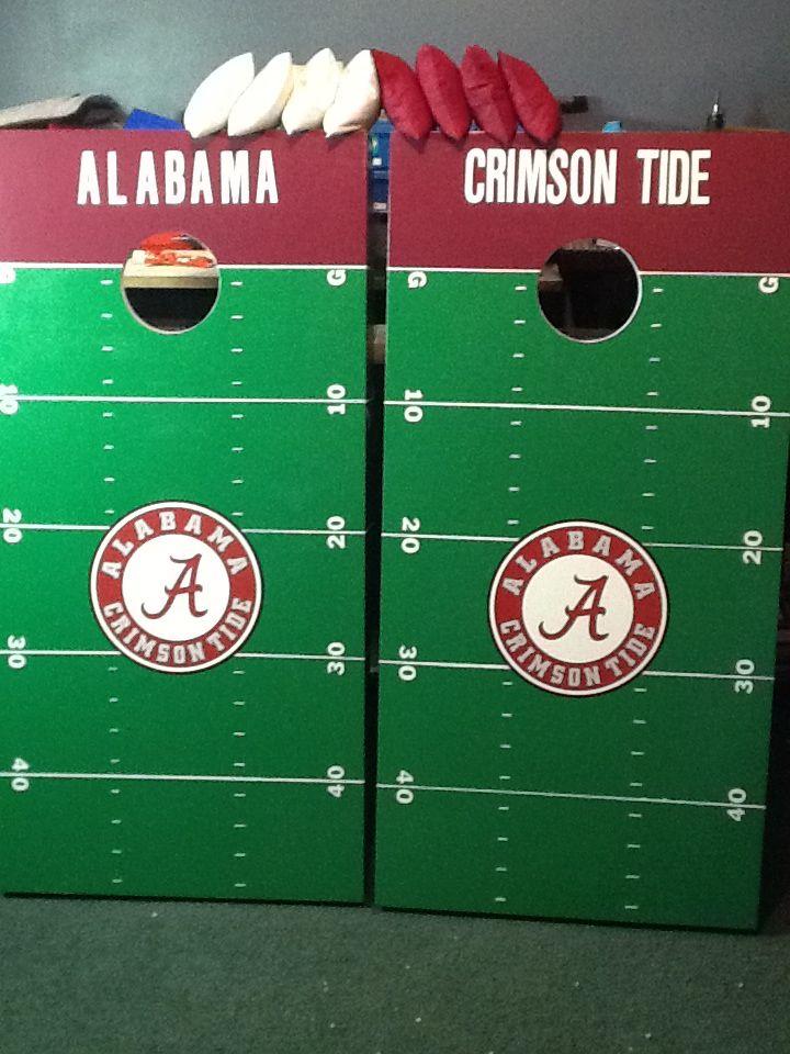 Alabama Cornhole Boards Cornhole Ideas Pinterest Alabama