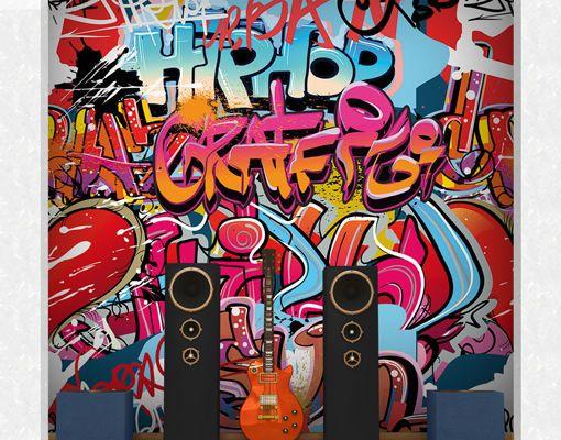 Photo Wall Mural HIPHOP GRAFFITI WALL 300x280 Wallpaper Art Music Streetart