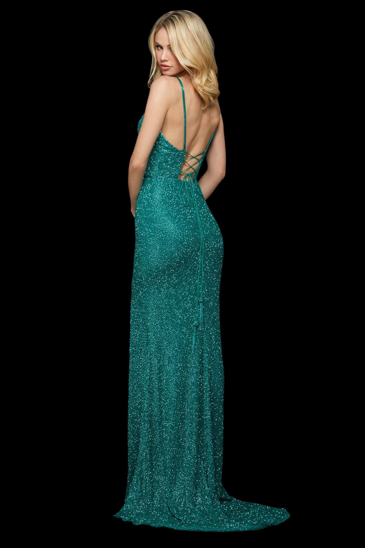 Sherri Hill - 52324 V-Neck Long Beaded Dress   Great
