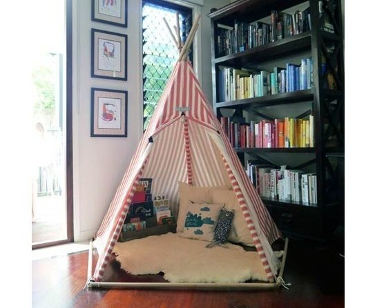 Kid's Room - Teepee's are all the rage, glad im getting mine from Oz soon for the girls. :)