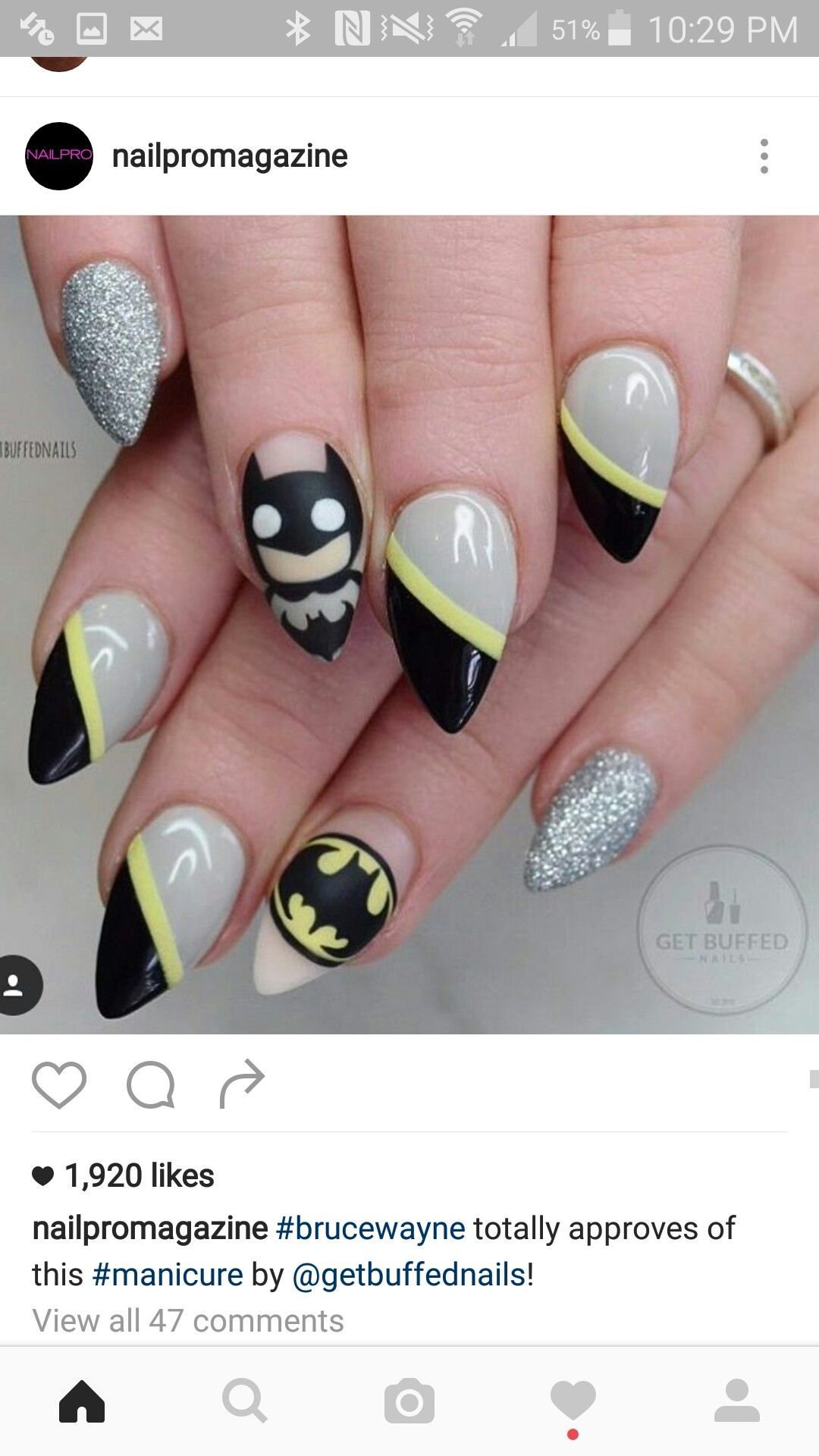 I\'d like this more if they weren\'t pointy | Nails | Pinterest ...
