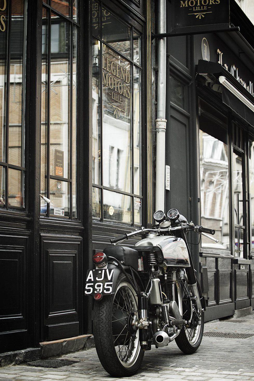 "Norton Manx ""Big Plunger 1948   ""LEGEND MOTORS"