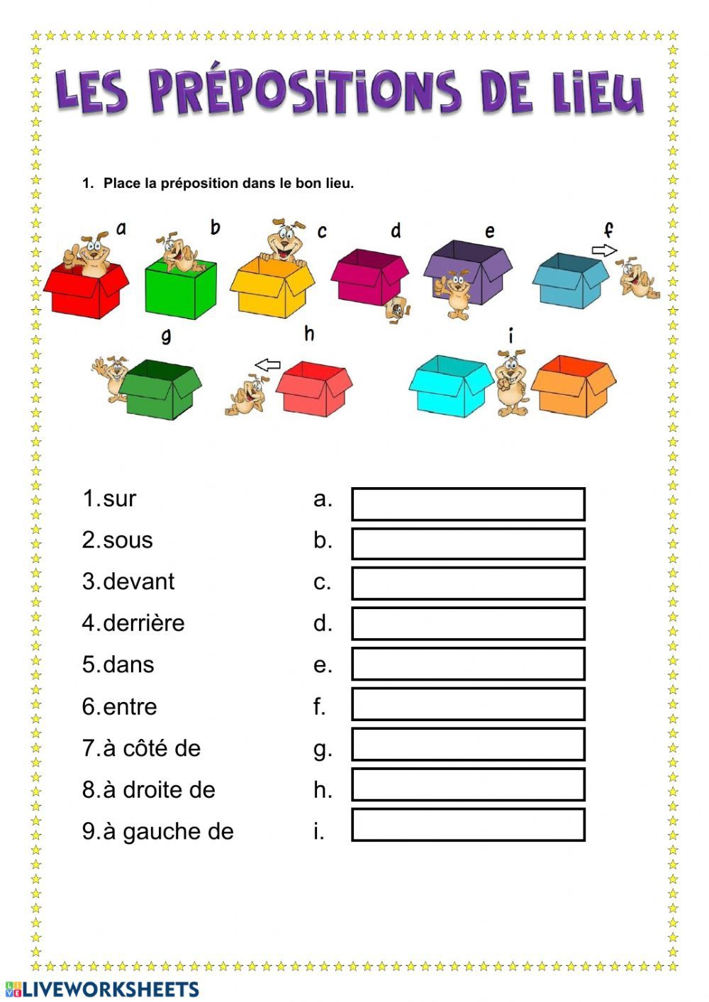 small resolution of Les prépositions de lieu interactive and downloadable worksheet. You can do  the exercises onli…   Preposition worksheets