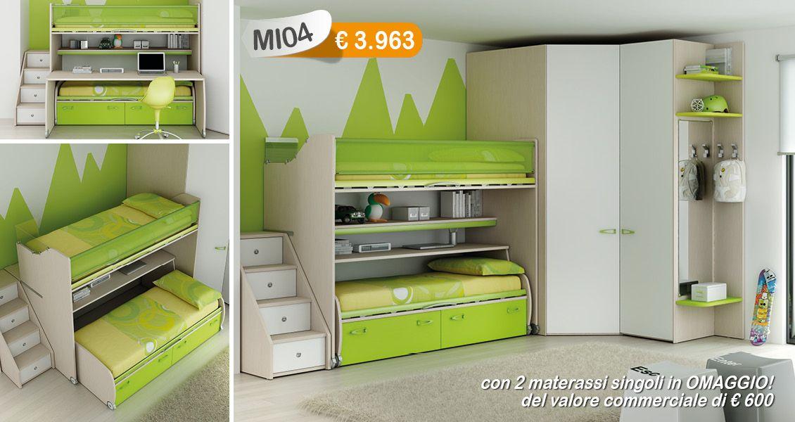 Design Camerette ~ Www.magic house.it #arredamento #design #camerette #moretticompact