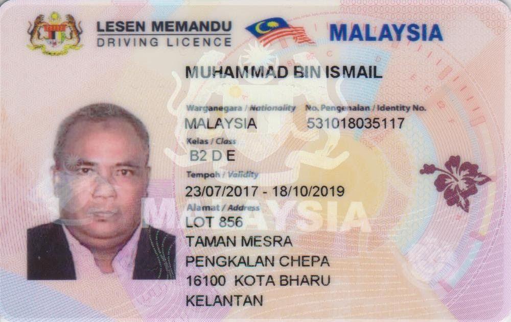 Lesen Memandu Driving License Psd Templates Driving