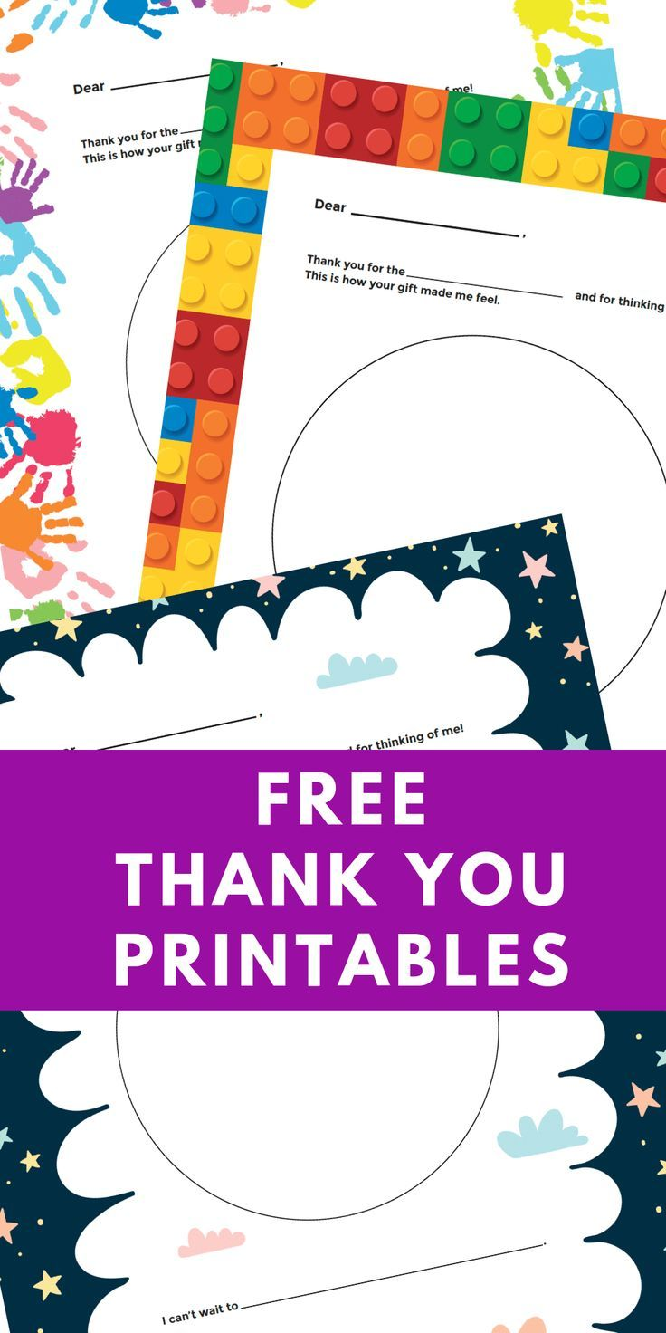 free printable personalized thank you cards for kids