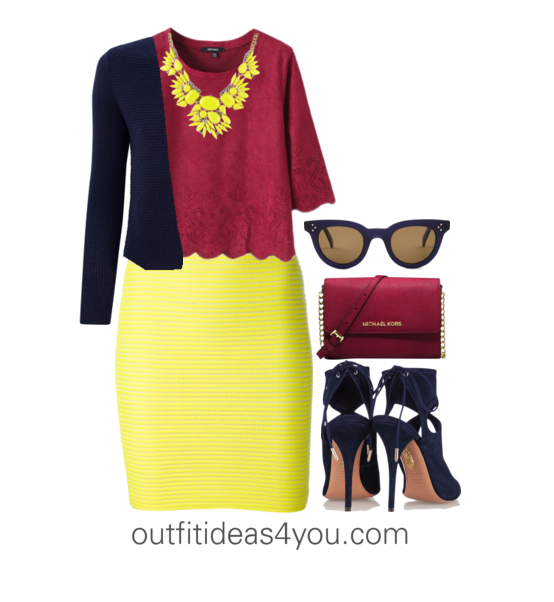 14b5772640e2 Buttercup may be a bit too bright and sunny for a shaded winter. Wear this  fun color as a bottom. I styled this outfit with a buttercup yellow skirt.