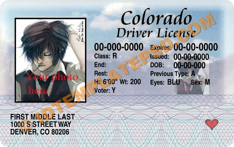 This is colarado usa state drivers license psd photoshop this is colarado usa state drivers license psd photoshop template on pronofoot35fo Gallery