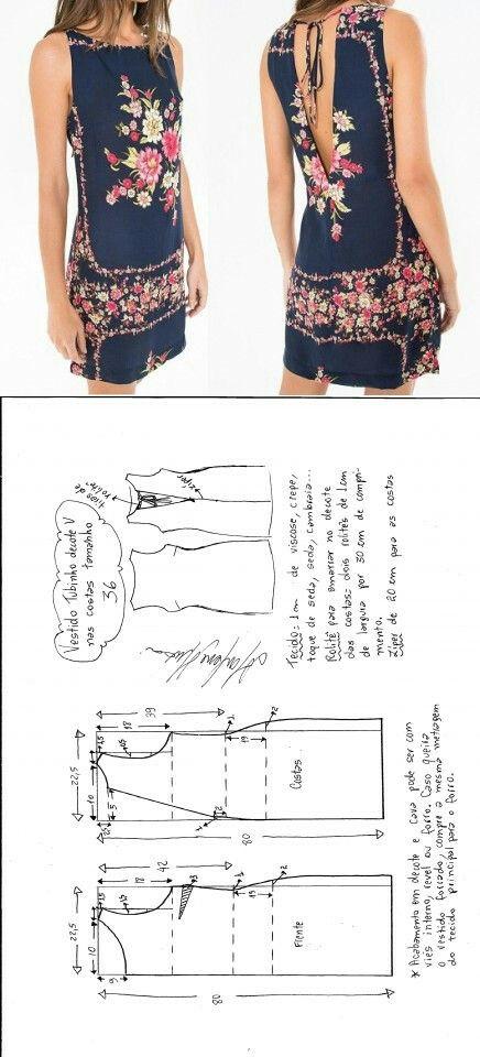 Vestido | patrones | Pinterest | Vestiditos, Costura y Patrones
