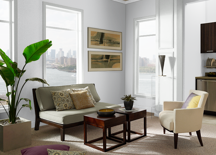 9 GreyBlue Paint Color Ideas For Quiet, Timeless Greys