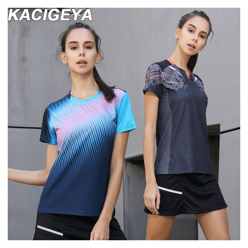 Quick Dry Breathable Badminton Shirt Women Sports Table Tennis T Shirts Team Game Running Training Short Sleeves D Badminton Shirt Tennis Tshirts Sports Women