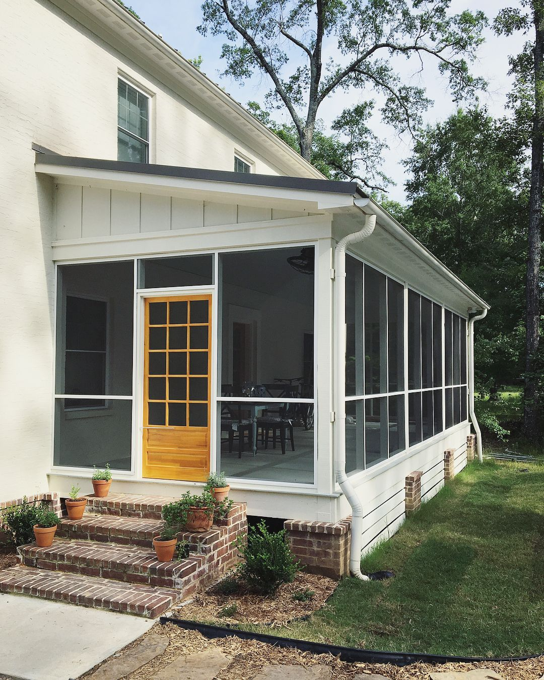 Screen Porch Ideas Designs: Screened Porch W/ Side Entry, Brick Steps