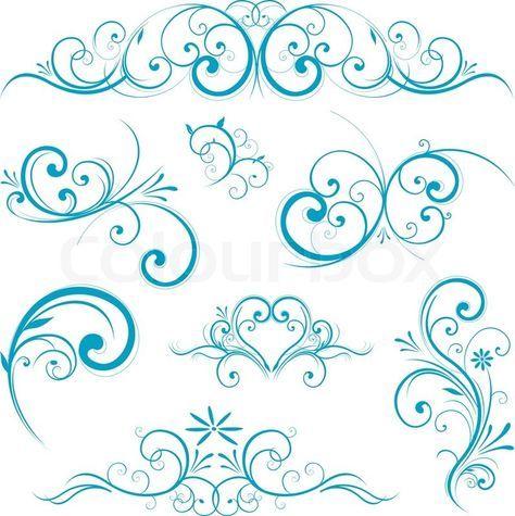 Stock Vektor Von Schnorkel Rahmen Muster Muster Tattoos Stickschriftarten Schnorkel Tattoo