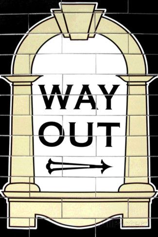 London Underground Way Out Sign RetroMetro Poster Print at ...