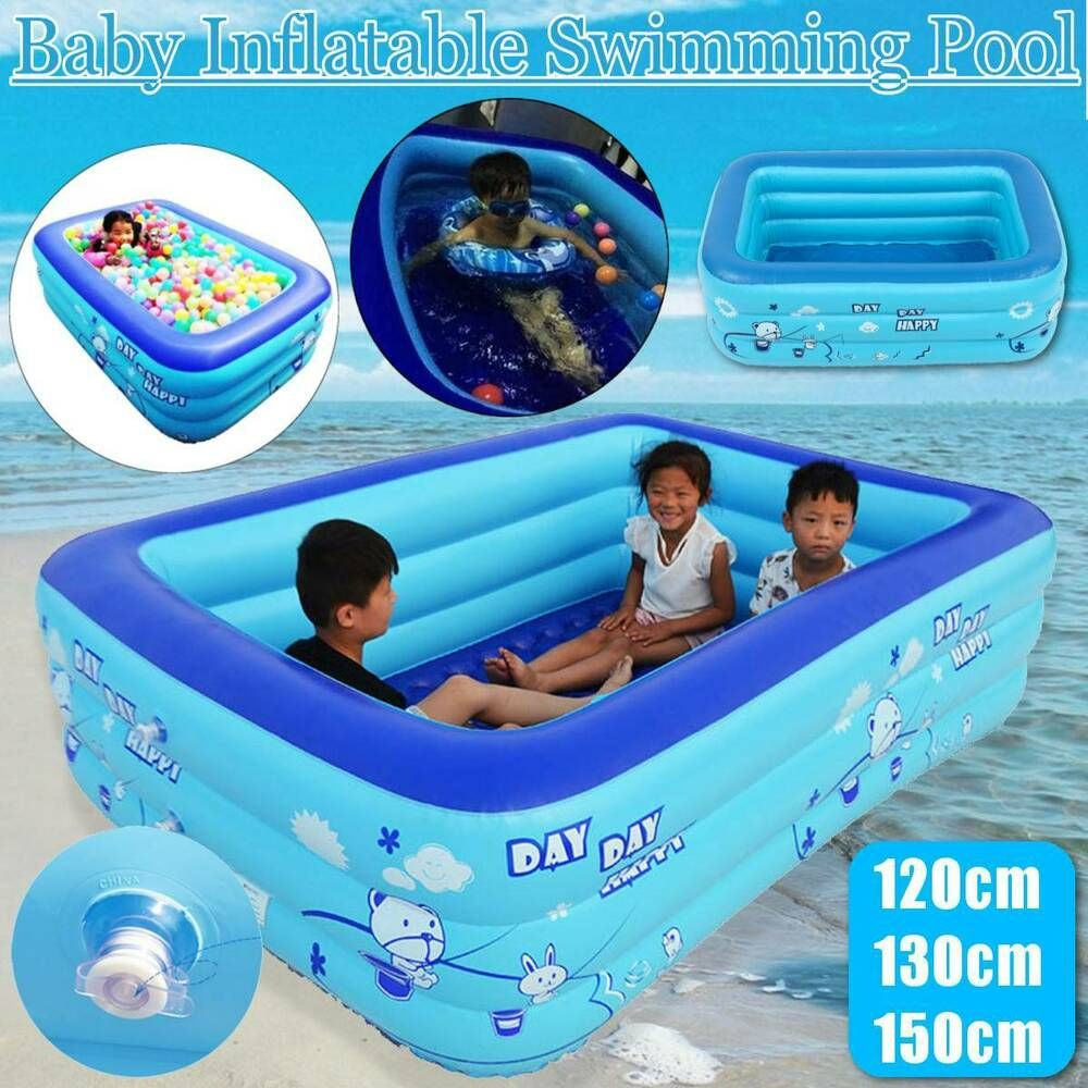 Best Inflatable Family Swimming Pool Kids Water Summer Fun