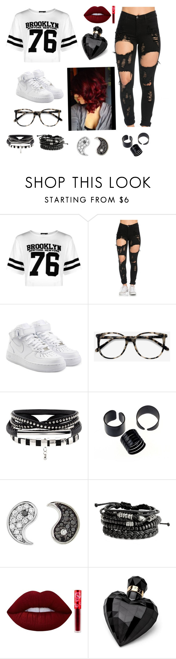 """""""Untitled #65"""" by gissellebeltre on Polyvore featuring Boohoo, NIKE, Ace, Sydney Evan, Lime Crime and Lipsy"""