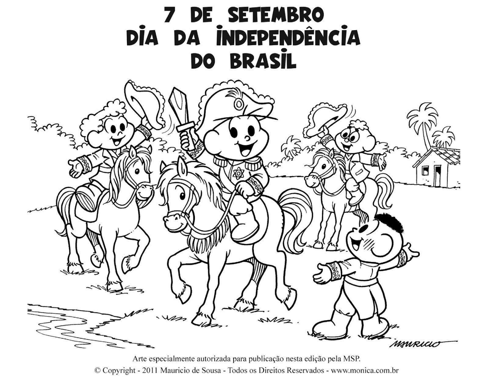 Atividades Sobre A Independencia Do Brasil Para Colorir