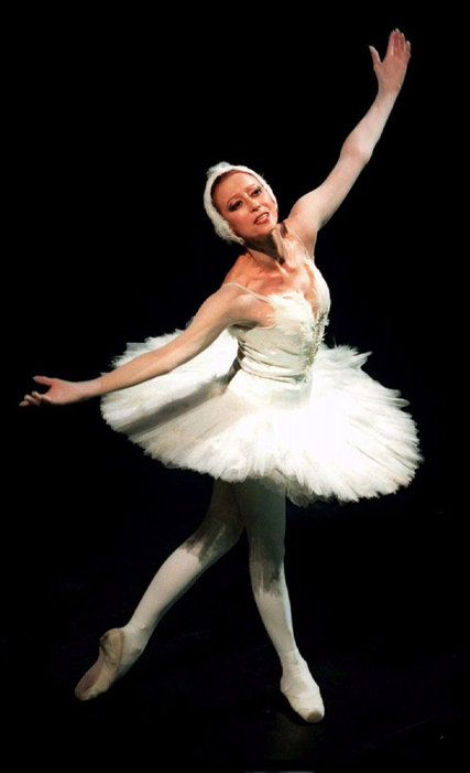 "Maya Plisetskaya after performing in ""Swan Lake"" at the Bolshoi Theater in 1995. Credit Grigory Dukor/Reuters"