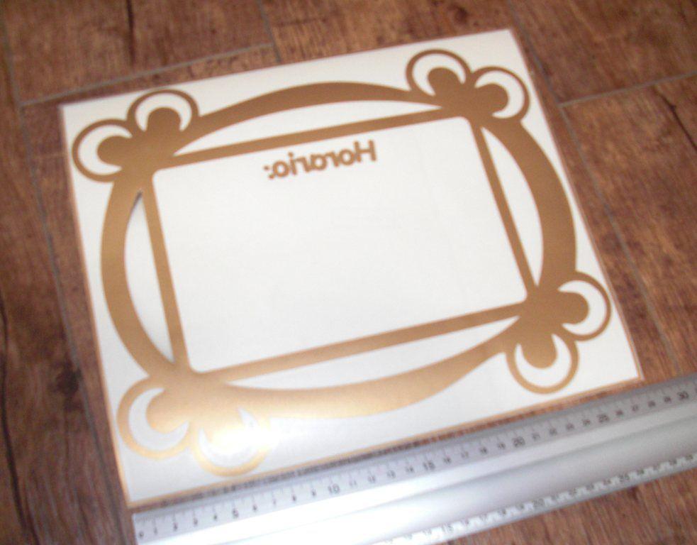 Pegatina con forma de marco para el horario. | Adhesivos decorativos ...