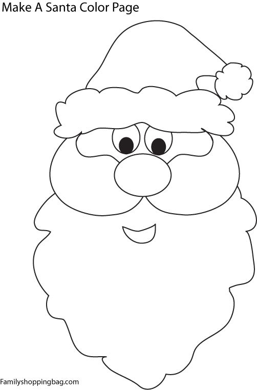 Santa Face Coloring Pages Christmas