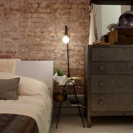 Impressive Bedrooms With Brick Walls DigsDigs H O M E - 65 impressive bedrooms with brick walls