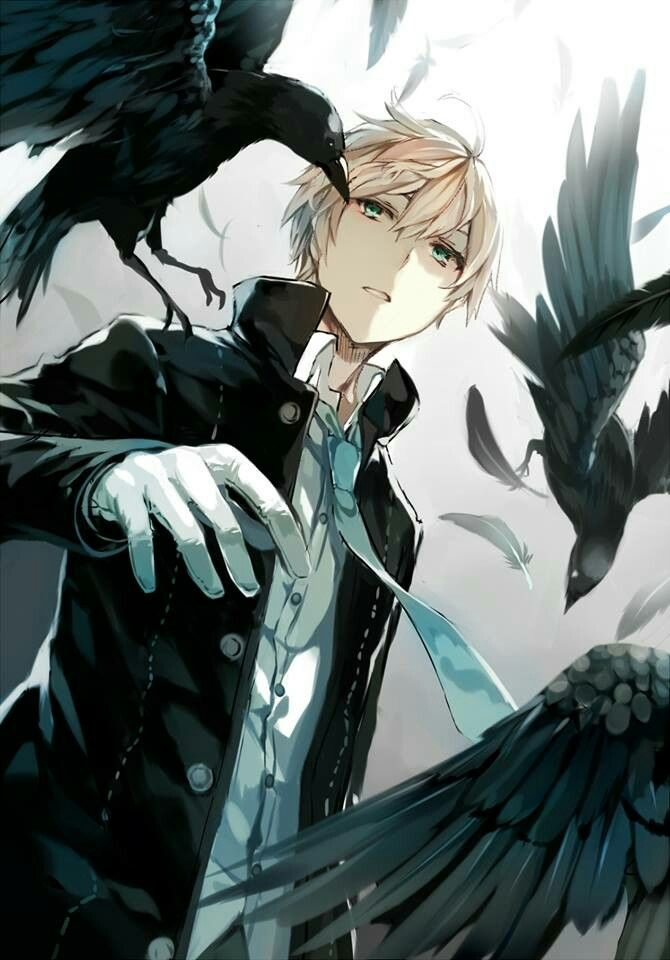 Greetings I Am Nathaniel Ravenscroft Yes I Am Aware Of The Fact That My Name Is Ironic Considering That Ravens And Crows Ar Cute Anime Boy Anime Anime Guys