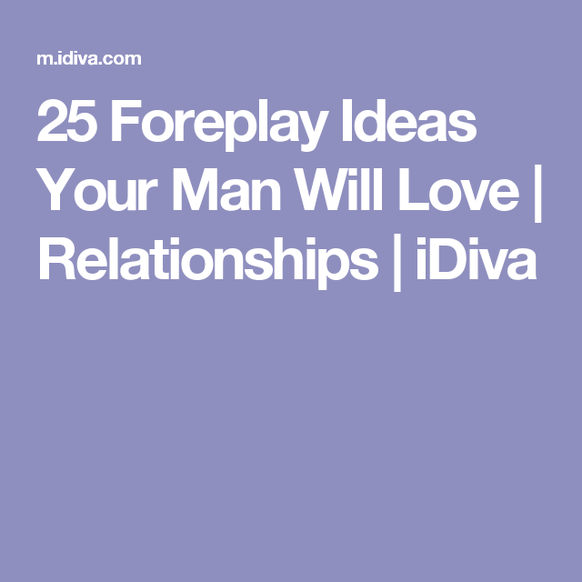 different foreplay ideas